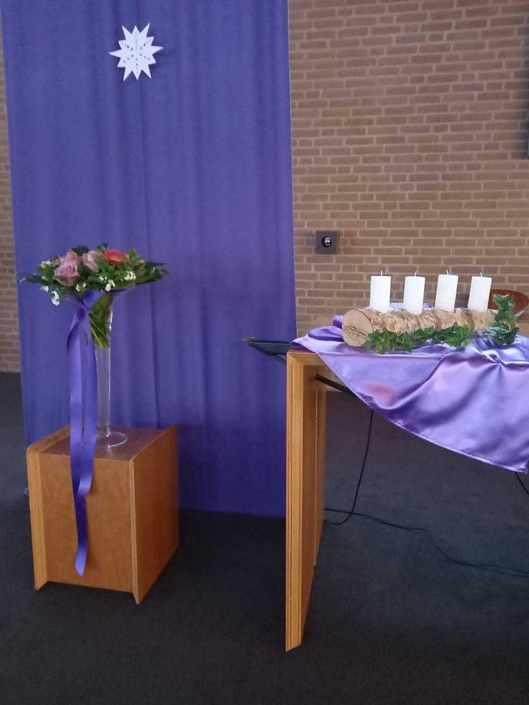 Bloemen op 1e adventszondag